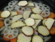 根菜の生姜炒め 調理②