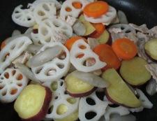 根菜の生姜炒め 調理④