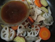 根菜の生姜炒め 調理⑤