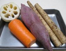 根菜の生姜炒め 材料①