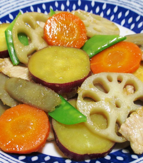 根菜の生姜炒め 大