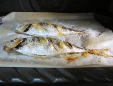 鯵の塩焼き 調理②