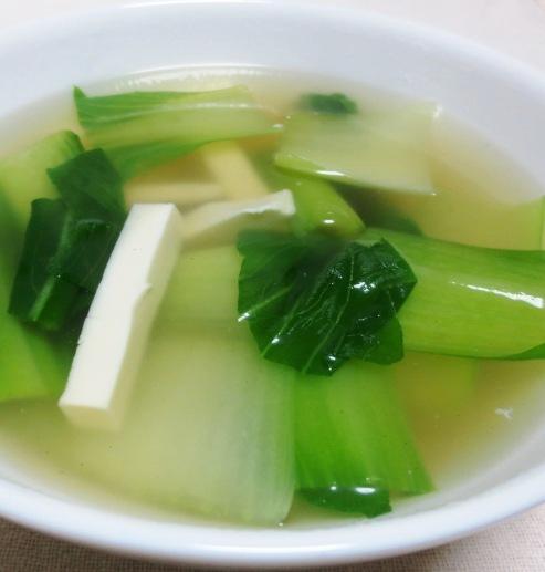豆腐と青梗菜のスープ B