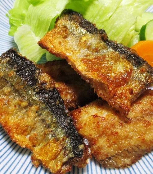 秋刀魚の一味唐揚げ 拡大