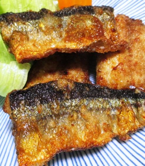 秋刀魚の一味唐揚げ 大