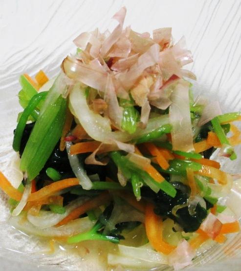 三色野菜のおひたし 大