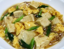 豆腐と炒り卵のオイスターソース煮 調理⑥