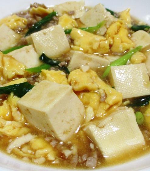 豆腐と炒り卵のオイスターソース煮 B