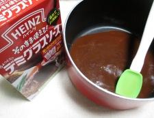 ハンバーグ 調理②