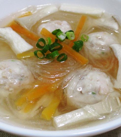 鶏だんごスープ 大