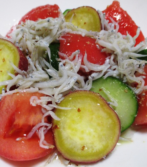 トマトとさつまいものしらすサラダ B