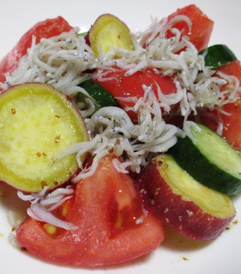 トマトとさつまいものしらすサラダ 大
