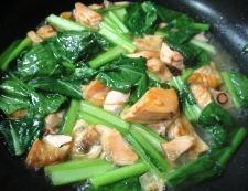 塩鮭と小松菜のパスタ 調理④
