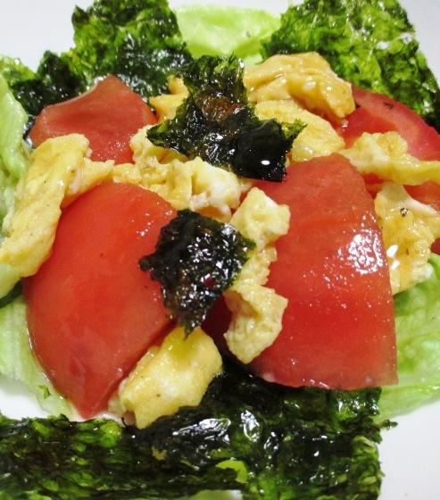 トマトと炒り卵の韓国海苔サラダ B