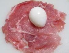 豚こまとうずらでスコッチエッグ 調理②