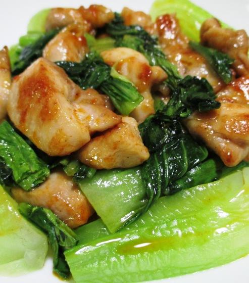 鶏もも肉のパプリカ胡麻ラーユ炒め B
