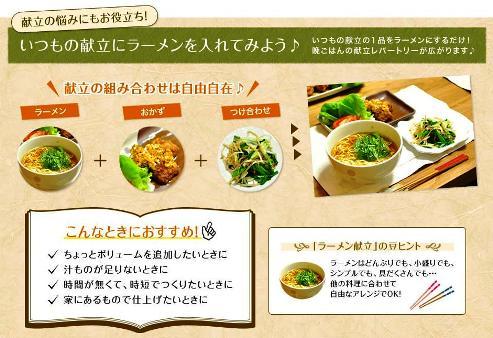 マルちゃん正麺 説明用写真
