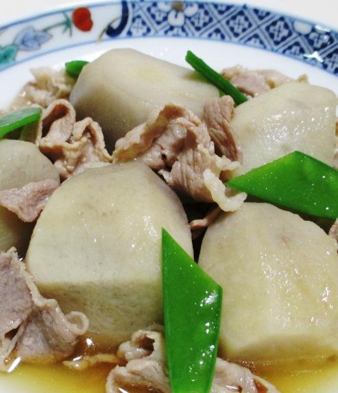 里芋と豚肉の煮物 拡大