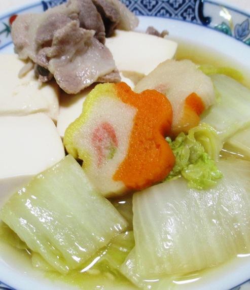 豚こま白菜豆腐 大