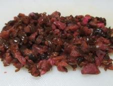 生湯葉と柴漬けのわさび醤油合え 調理①