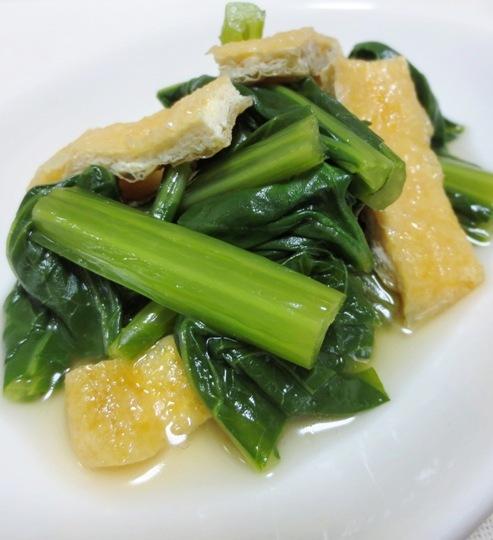 小松菜とお揚げの炊いたん B