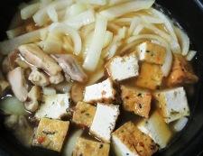 厚揚げと鶏もも肉の煮物 調理④