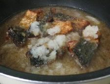 揚げサバのおろし煮 調理⑥