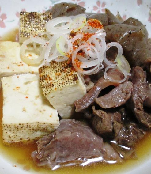 牛すじ焼き豆腐 拡大
