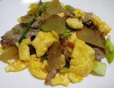 ザーサイと豚肉の炒め物 調理⑥