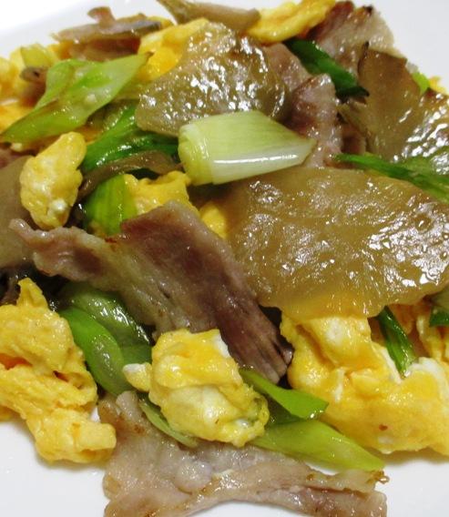 ザーサイと豚肉の炒め物 拡大