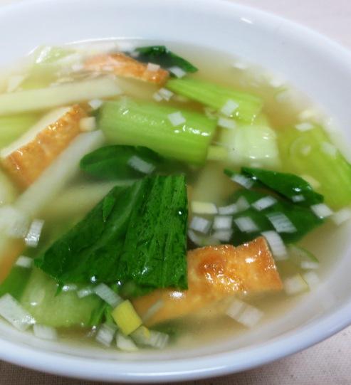 厚揚げ青梗菜スープ B
