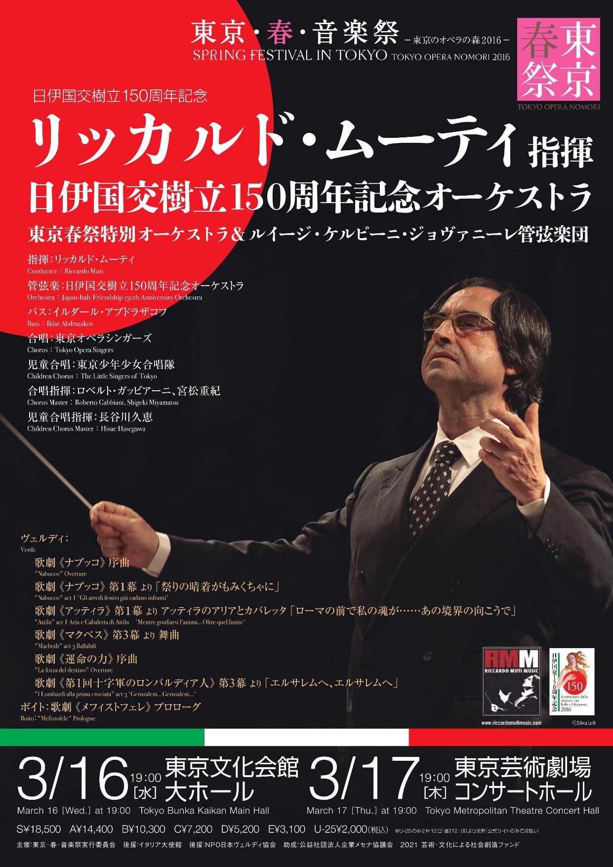 ムーティ指揮!東京・春・音楽祭 開幕コンサート!