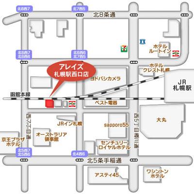 西口店地図