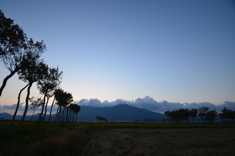 はざ木の夕暮れ-1