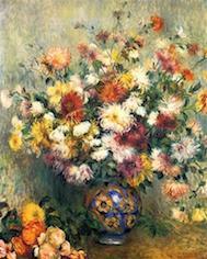 花瓶の黄金の菊 ルノワール アート名画館