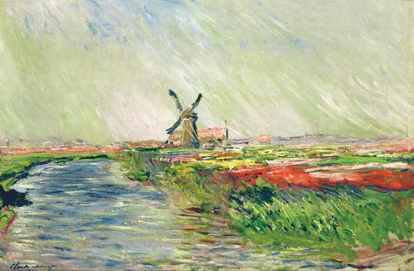 オランダのチューリップ畑 モネ
