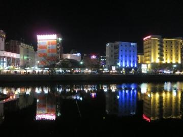 那珂川対岸(夜)