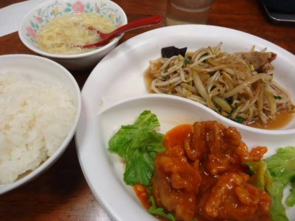 3/23 十八番・鶏の甘酢&もやし炒め