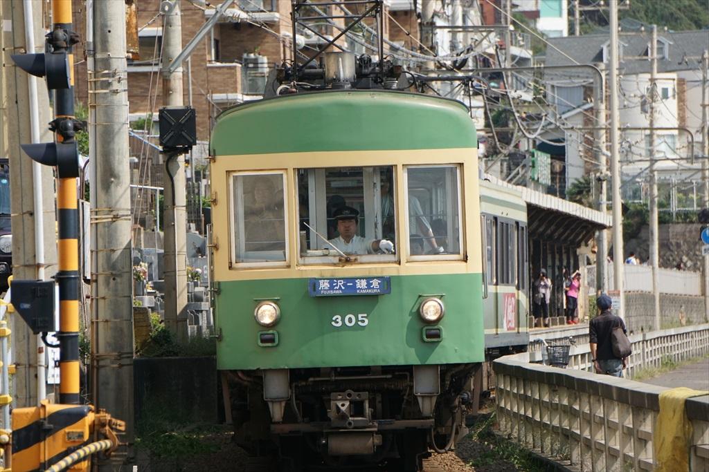 鎌倉高校前駅が近くなってきた_2