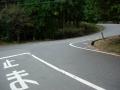 151122炭山で府道242号に合流、長坂峠へ