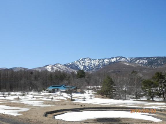 春のバラギ高原キャンプ場