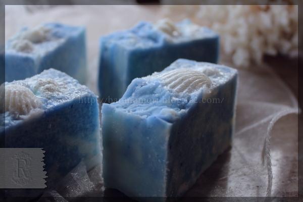 海 塩 塩石鹸 手作りせっけん 石鹸 せっけん 石けん 20151024 貝 シェル