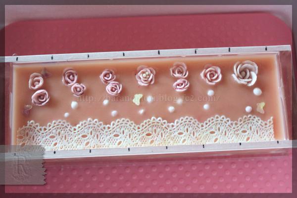 手作り石鹸 レース バラ ウルトラ抽出 ローズヒップオイル ローズヒップパウダー バラづくし 20151119