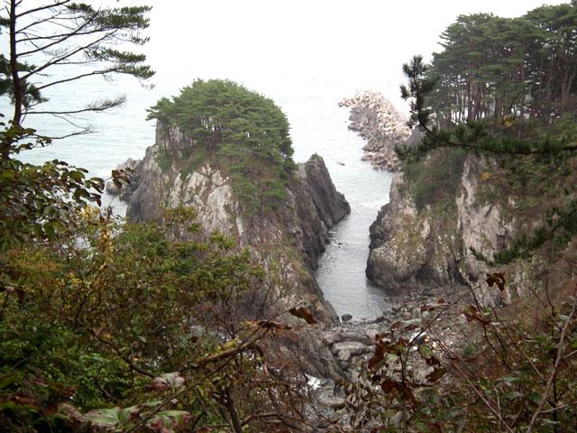 侍浜遊歩道からの景色