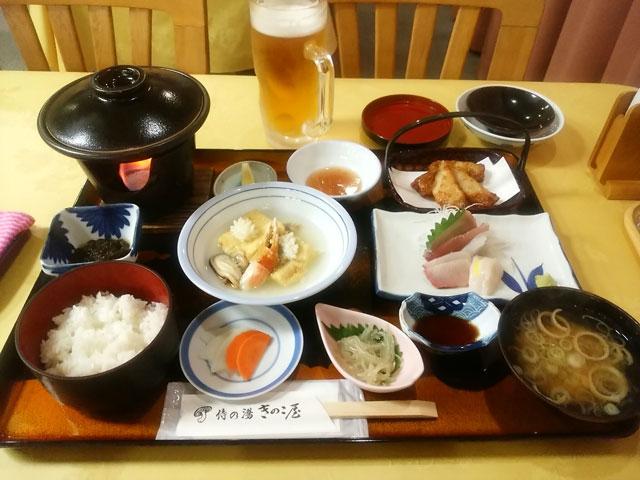 きのこ屋の2日目の夕食