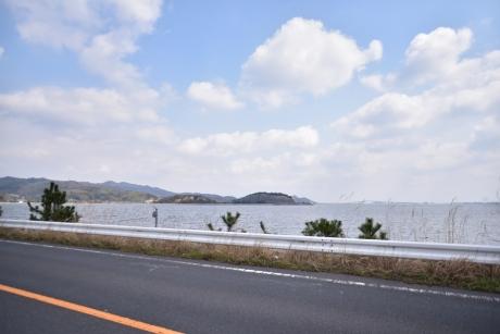 1堤防上を走り境港へ