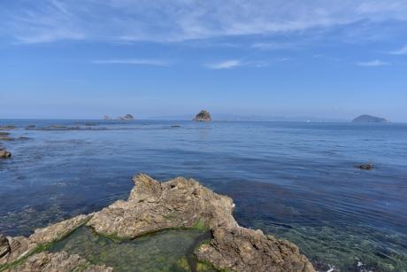 10三郎岩が見える
