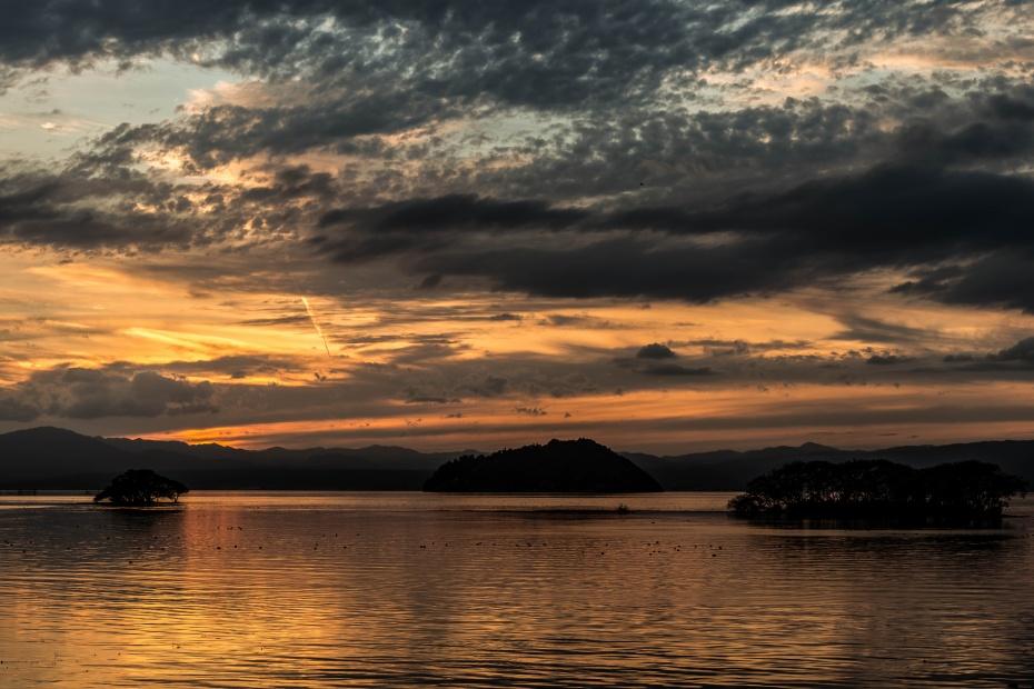 2015.11.16琵琶湖の夕景3