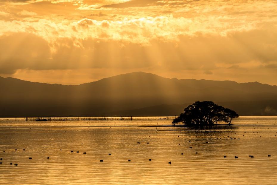 2015.11.16琵琶湖の夕景1