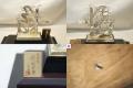 純銀製 福(松竹梅) 置き物 ガラスケース02